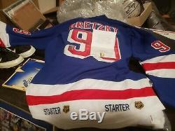 Wayne Gretzky Signé Rangers De New York Autograph Replica Jersey Wga