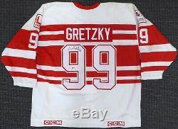 Wayne Gretzky - Tournée De Retraites De Maillots Dédicacée Autographiée 94 Kings Oilers Beckett A62905