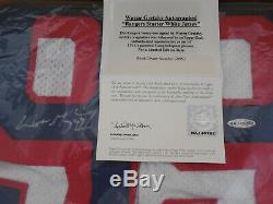 Wayne Gretzky Uda Signé Rangers De New York Blanc Starter Automatique Jersey Autograph