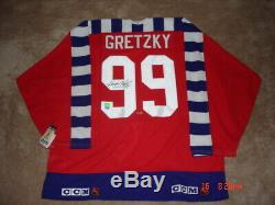 Wayne Gretzky Wga Autographié 1992 Allstar Jersey Ltd. Edition 9/199