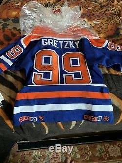 Wayne Gretzky Wga Autographié, Jersey, Signé, Oilers D'edmonton Double Tag CCM 2006