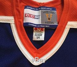 Wayne Gretzky Wga Holo 100% Auth Signé CCM Vintage Jersey Avec Bracelet De Combat