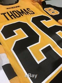 Wbs- Wilkes Barre Scranton Penguins Bébé Jersey Taille 54 Avec Coa Portés