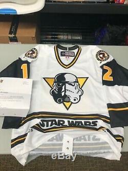 Zach Aston-reese Jeu A Effectué Star Wars Jersey Taille 52 Avec Coa Livraison Gratuite